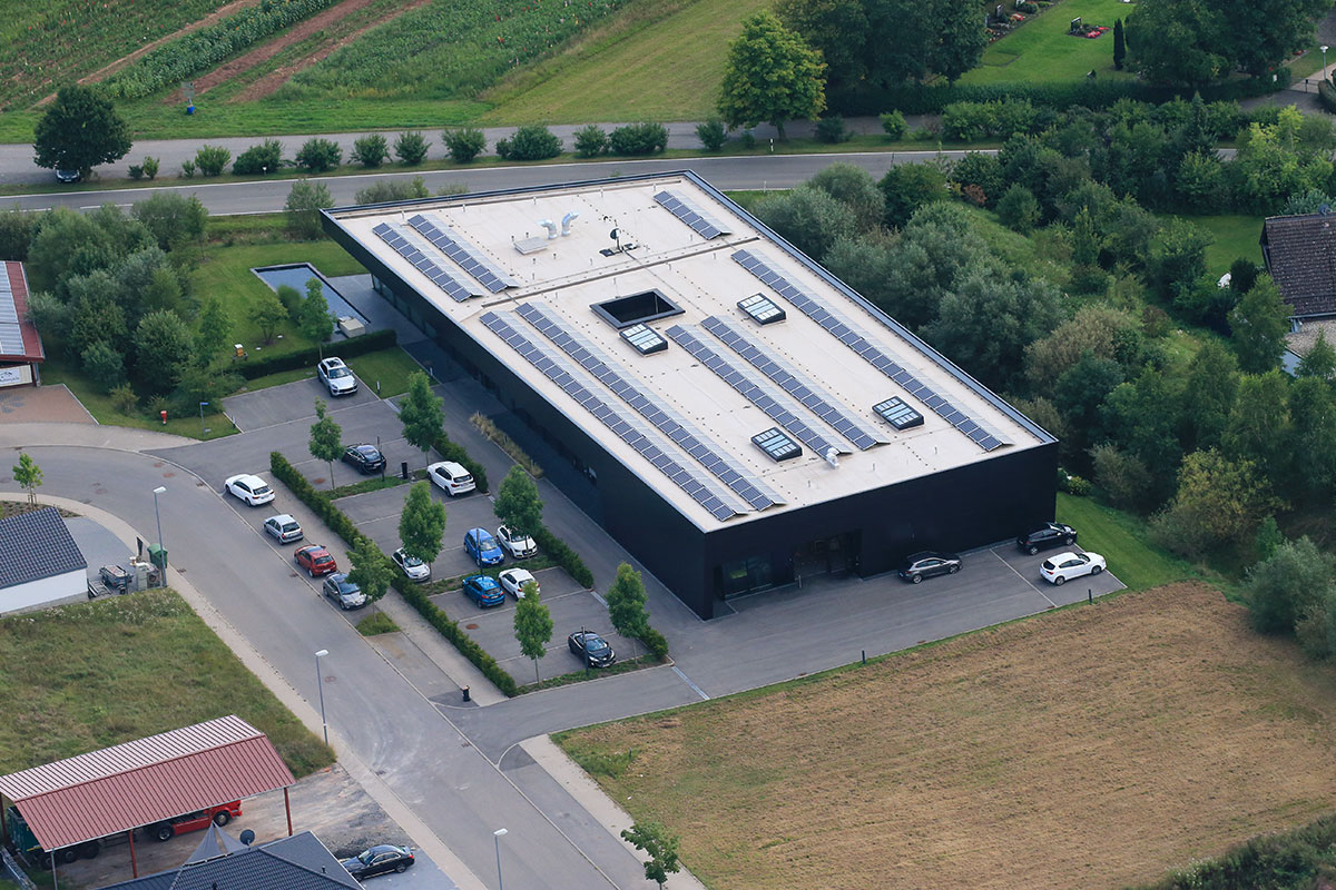 Sustainability Solar modules headquarter lunor