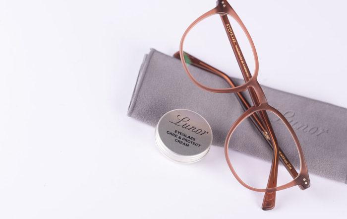 matte acetate glasses spectacles Lunor care cream