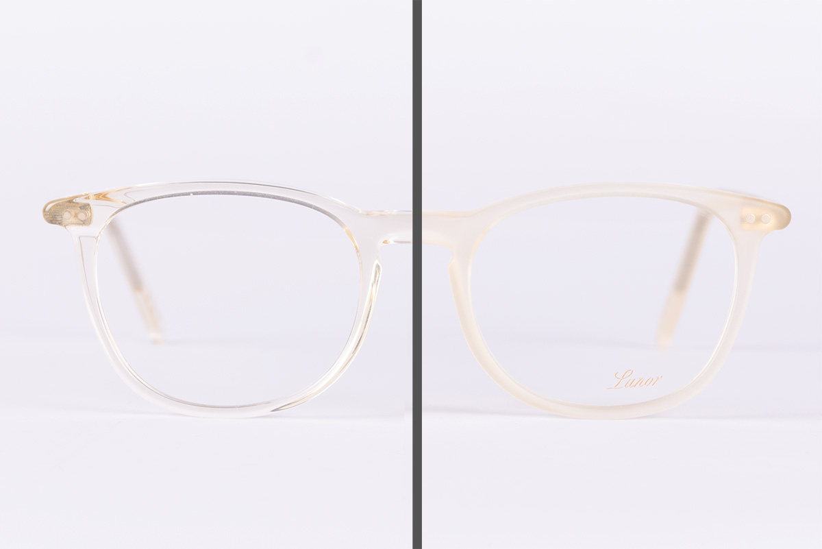 matte glasses acetate fraes Lunor shiny matte